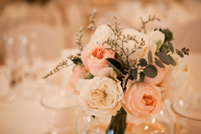 wedding centerpiece with english roses