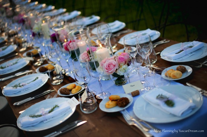 rustic tuscan outdoor reception