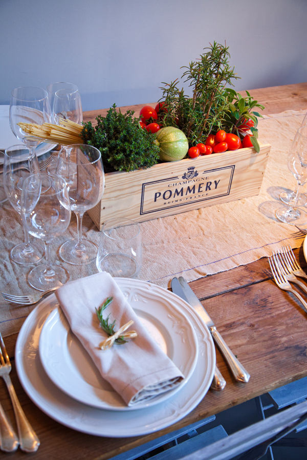 wooden rustic centerpiece