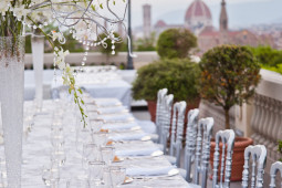 Wedding floral reception at Villa Vedetta Florence Tuscany