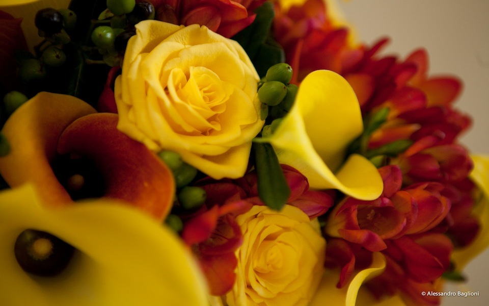 wedding flowers ideas Tuscan yellow