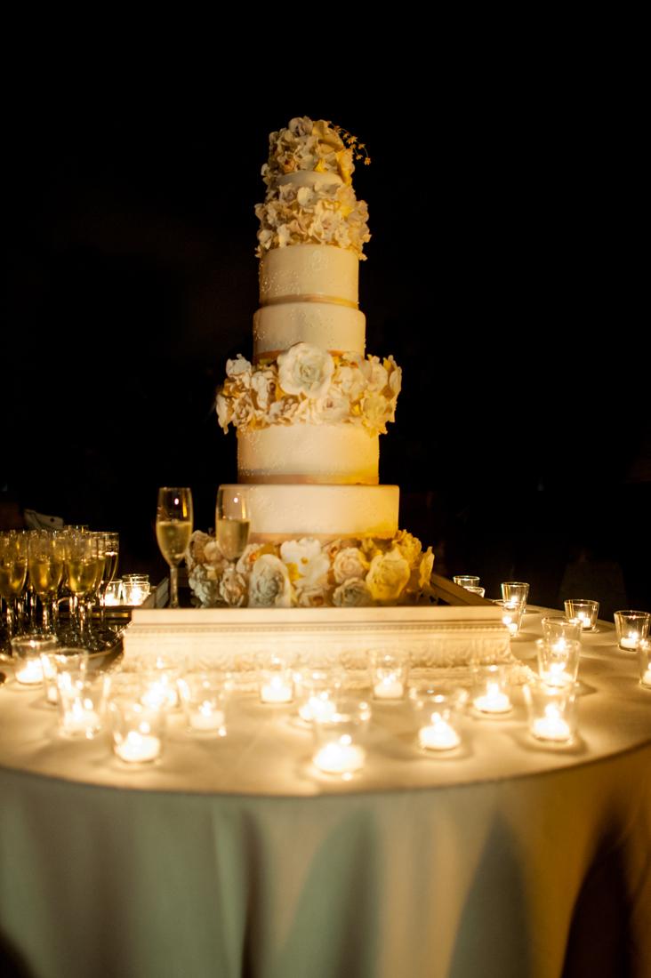 Melanie Secciani's wedding cake