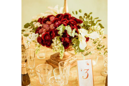 golden elegant centerpiece Tuscany