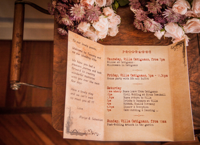 wedding stationery ideas tuscany