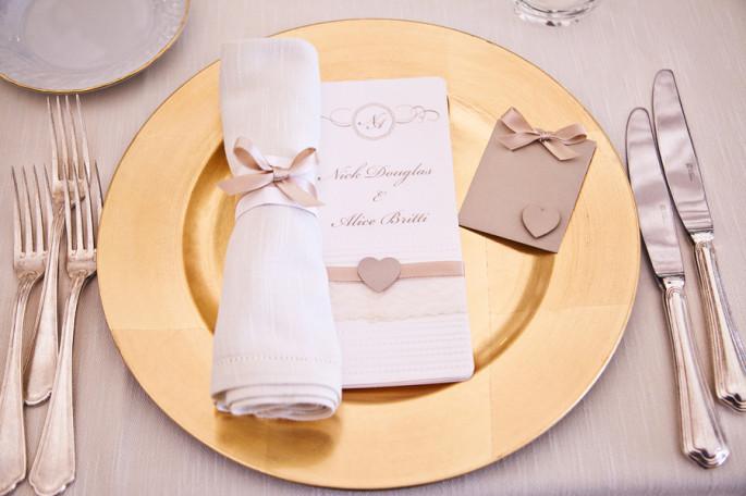 golden wedding reception