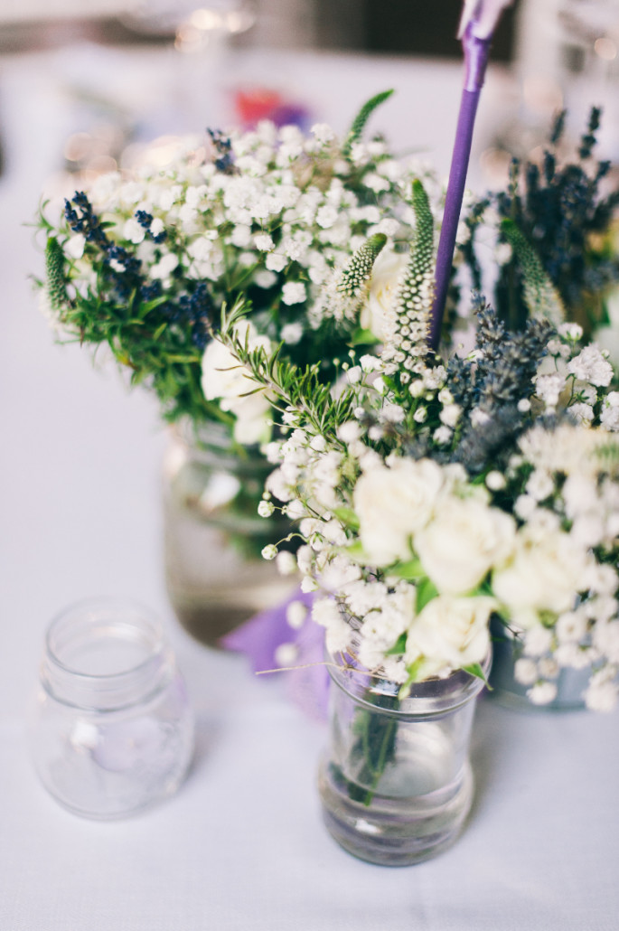 wedding centerpiece with lavender