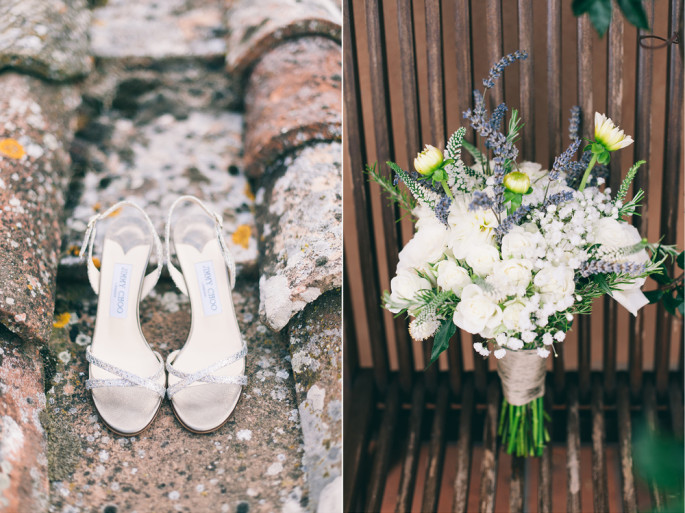 rustic bridal bouquet Florence Tuscany