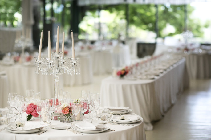 wedding crystal candelabra centertable
