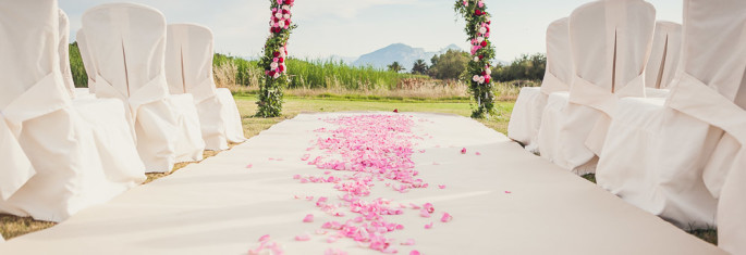 ceremony flowers wedding in Sardinia