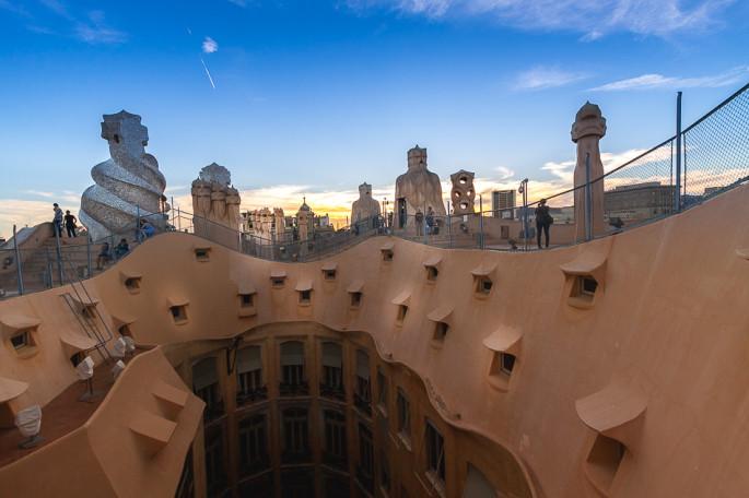 Pedrera Roof Barcelona Spain