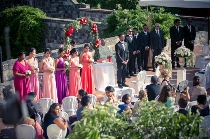 Vincigliata Castle outdoor wedding ceremony