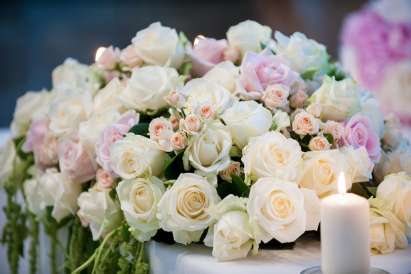 wedding flowers centertable Florence Tuscany