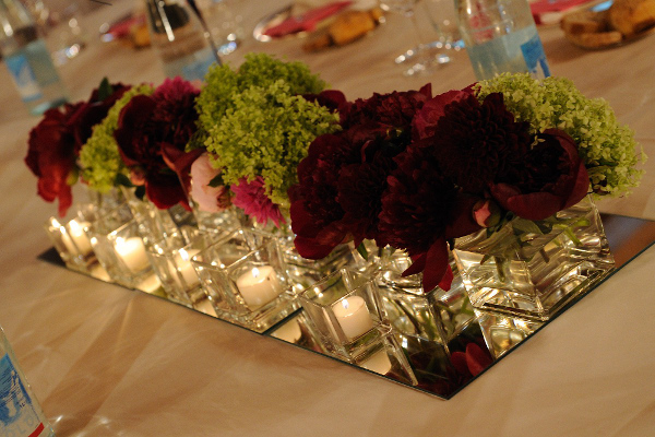 burgundy wedding centerpiece Tuscany