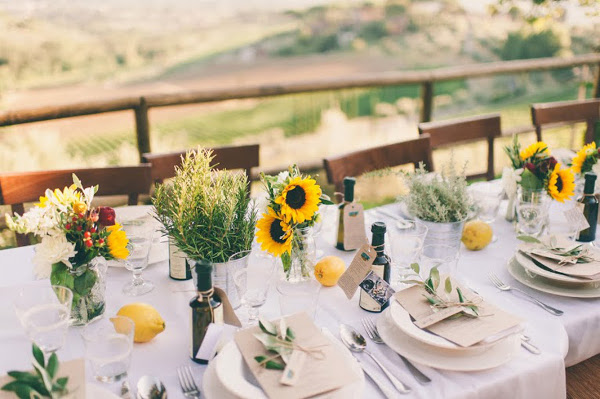 rustic tuscan centerpiece Florence Tuscany