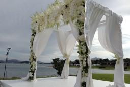 White Hupah decor