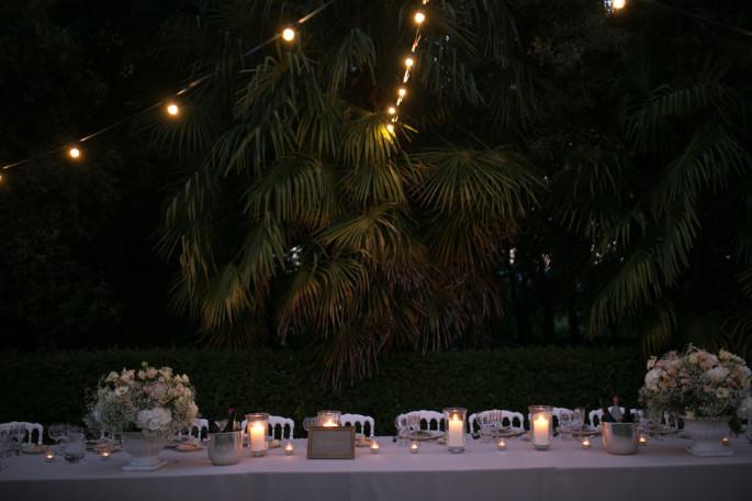 wedding reception flowers Tuscany