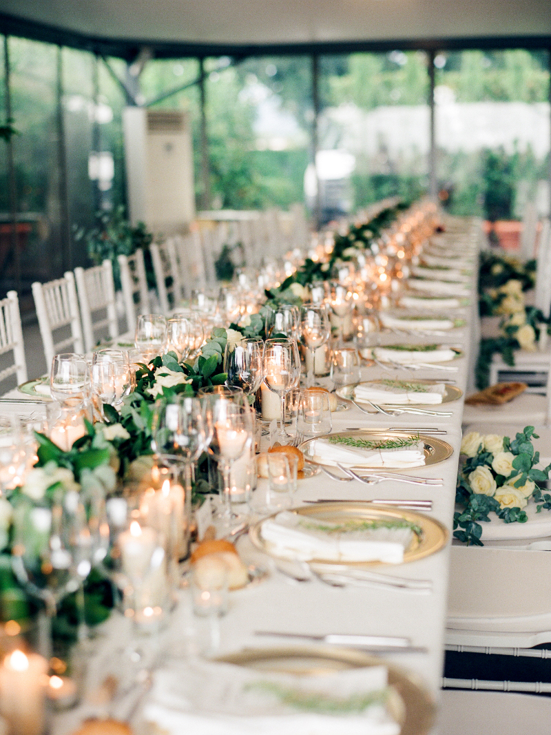 wedding tablescape decor Tuscany