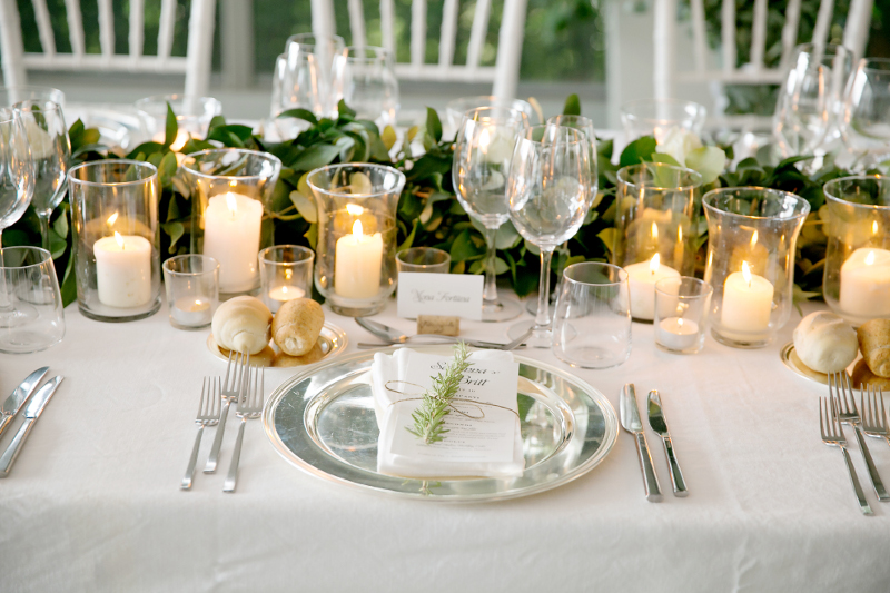 tablescape decor with candles