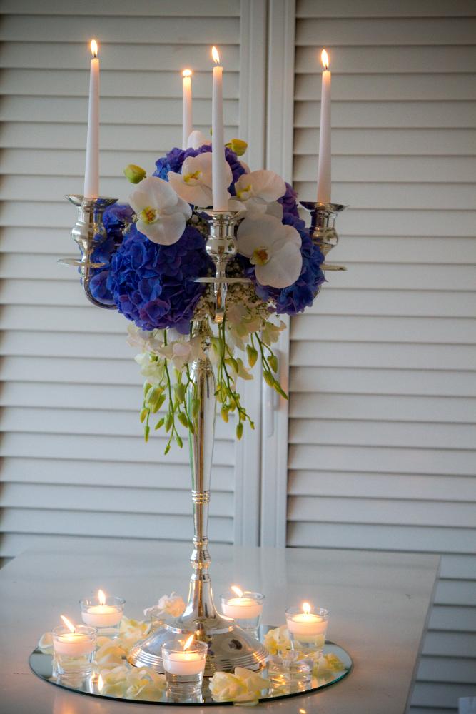 candelabra's elegant centerpiece