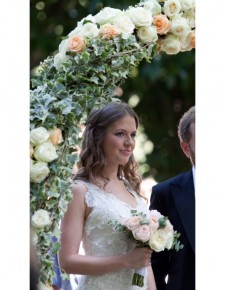 english roses bridal bouquet