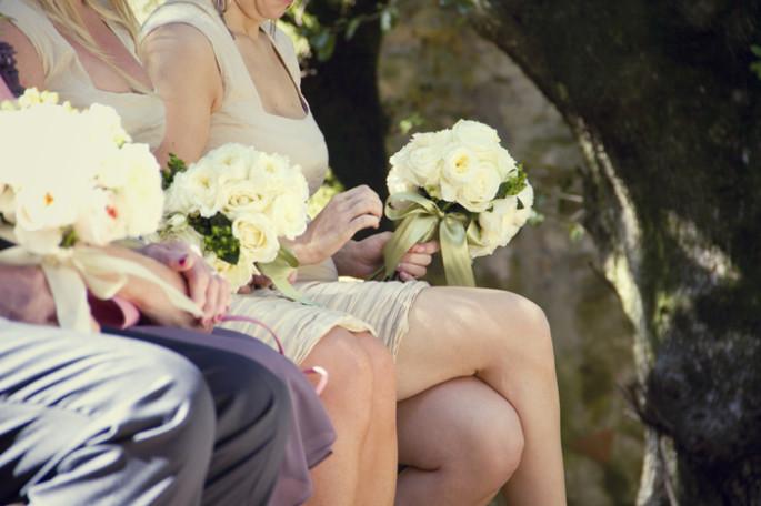 rustic bride's maide bouquet
