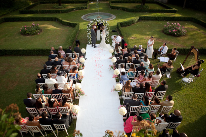 wedding ceremony at Villa Vedetta FlorenceTuscany
