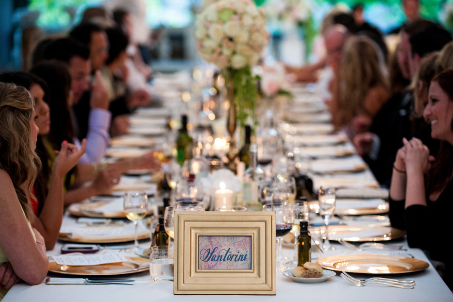 indoor elegant wedding reception detail of tablescape Forence Tuscany