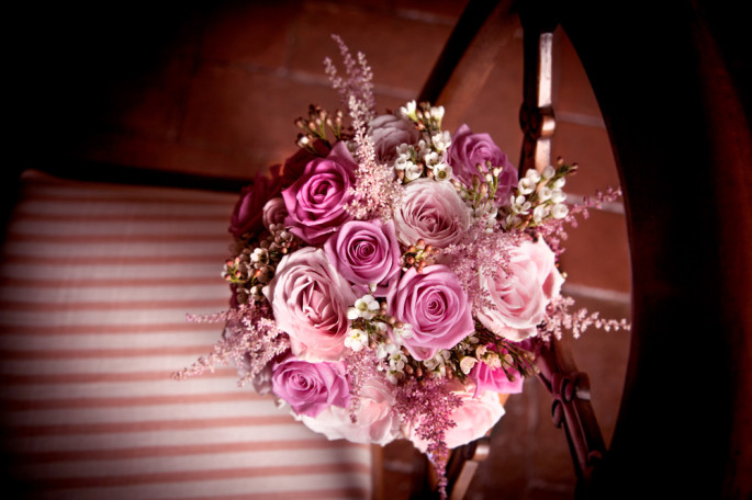 pink bridal bouquet Florence Tuscany