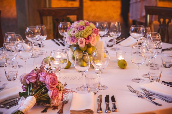 pink wedding flowers Tuscany