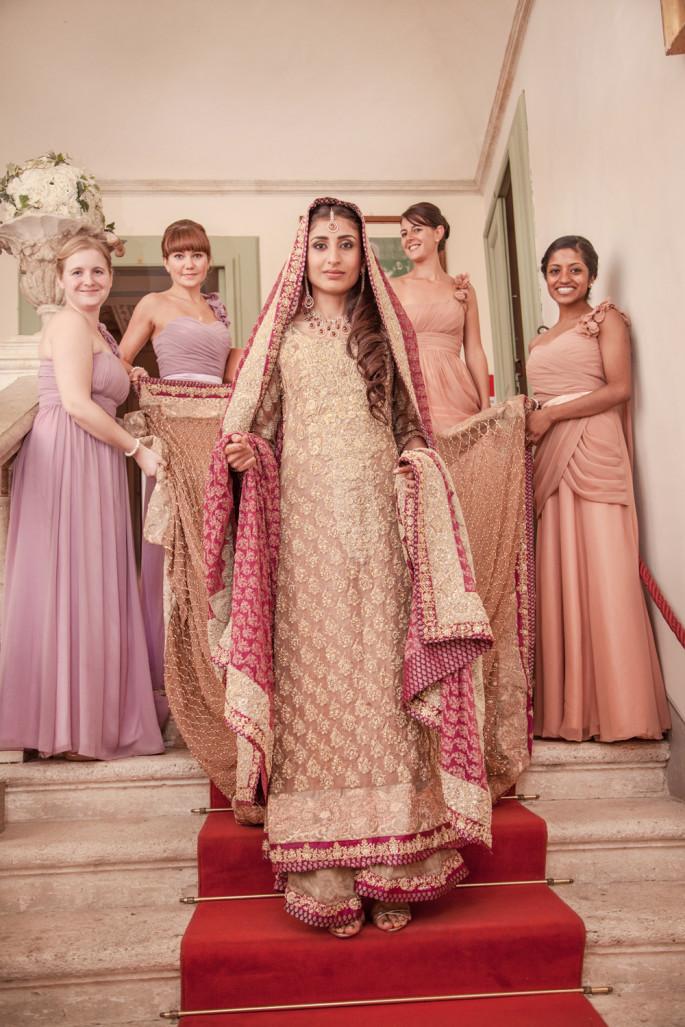 Pakistani bride wedding in Tuscany