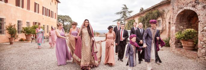 Pakistani wedding Villa Catignano Siena Tuscany