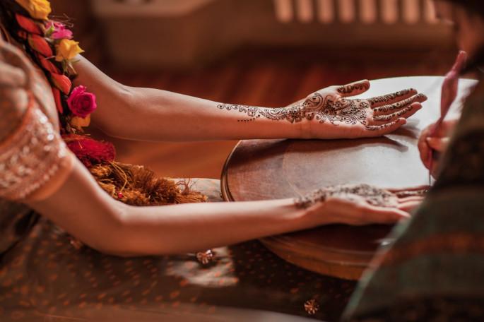 henna party Pakistani wedding Villa Catignano Tuscany