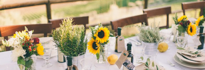 rustic tuscan centerpiece ideas