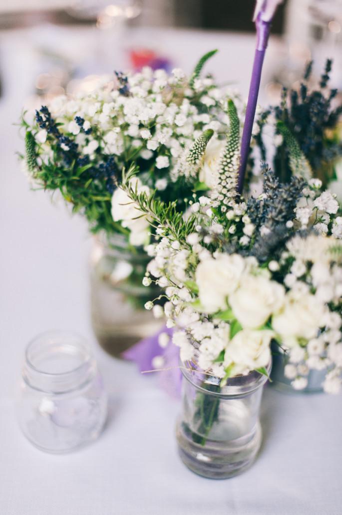 wedding centerpiece with lavender