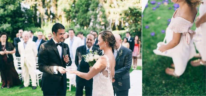 rustic wedding ceremony Tuscany