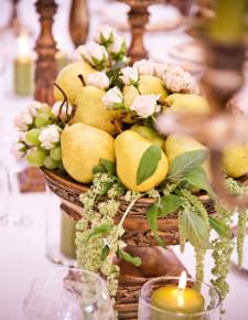 gold wedding dècor Tuscany
