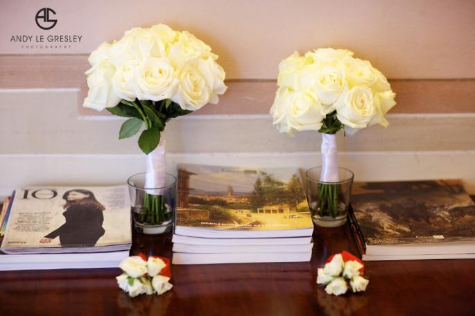 ivory bridal bouquet Florence Tuscany