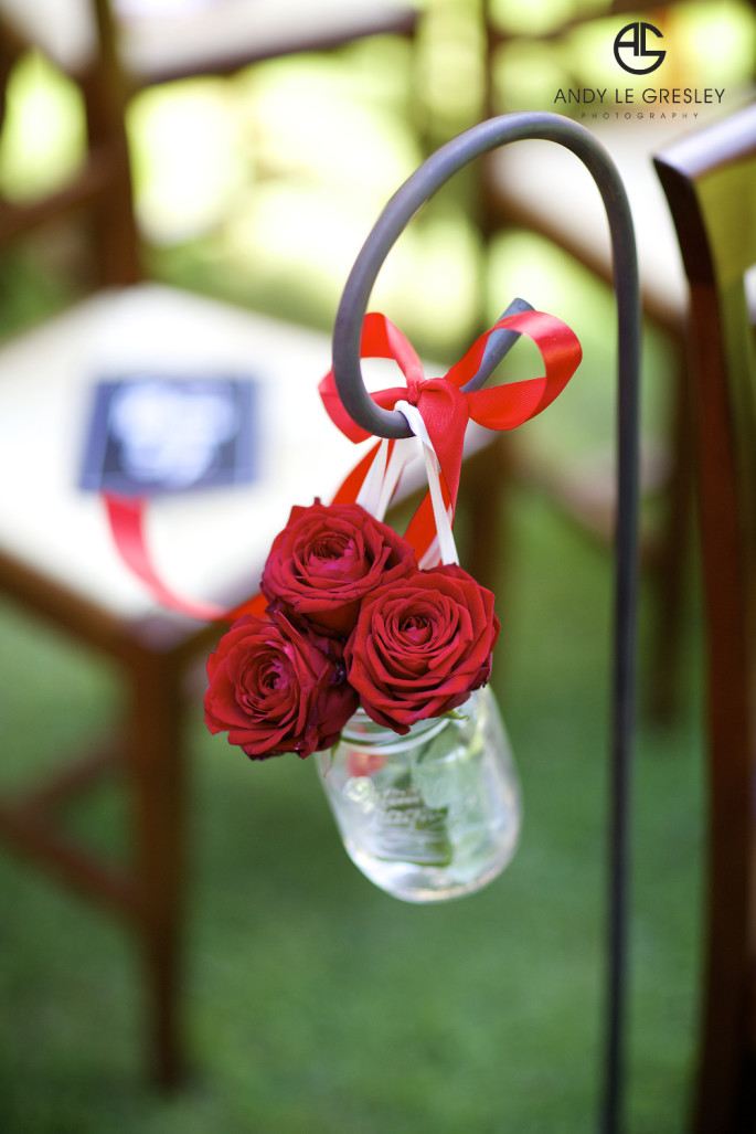 red wedding decor ideas Tuscany