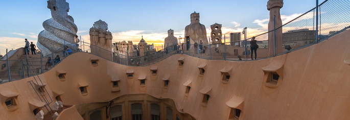 Pedrera Roof Barcelona Spain