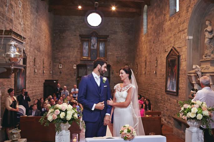wedding church decor Florence Tuscany
