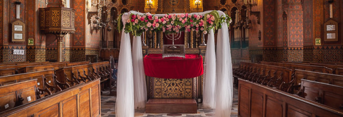 Sinagogue Florence Wedding flowers Huppah