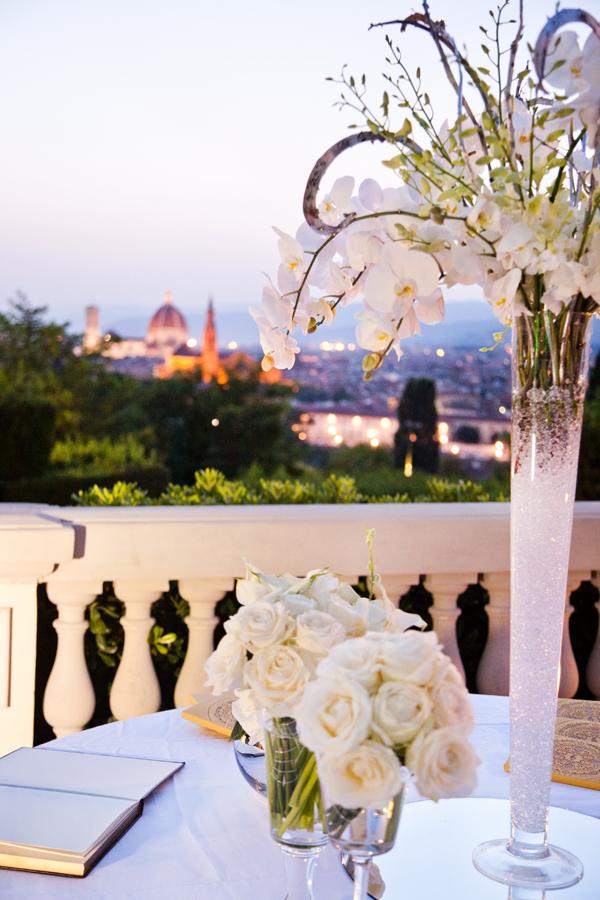 wedding flowers Florence Tuscany Villa Vedetta