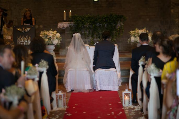 wedding church flowers Tuscany