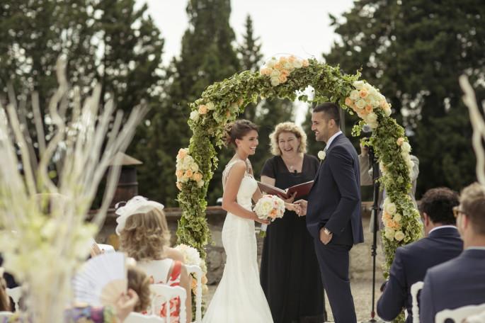 wedding ceremony arch Flowers Tuscany