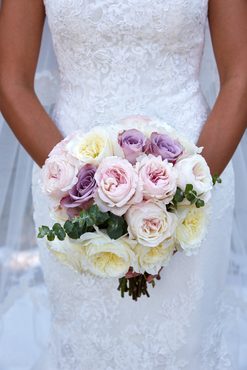 Bridal bouquet David Austin roses Tuscany Flowers