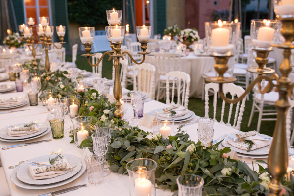 wedding tablescape decor Florence Tuscany
