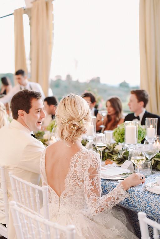 wedding reception table decor Florence Tuscany