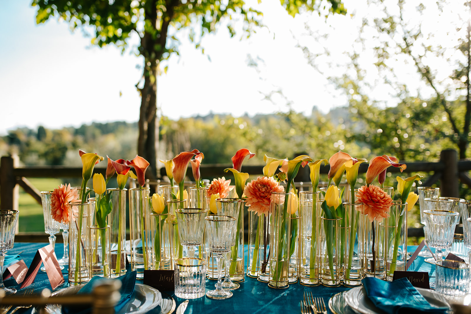 Spring party flowers Italy